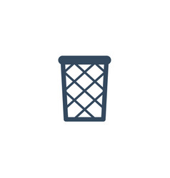 Flat icon wastebasket element vector
