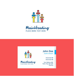 flat positions logo and visiting card template vector image