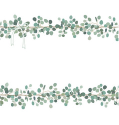 Floral card or banner design with eucalyptus vector