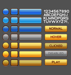 Game buttons gui pack pack vector