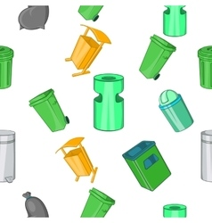 Garbage pattern cartoon style vector image