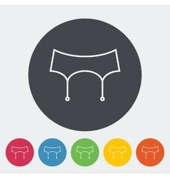 Garter belt vector