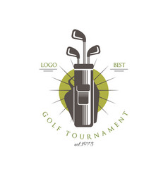 golf tournament logo best est 1978 elegant vector image