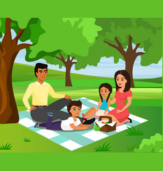 happy and smiley family on vector image