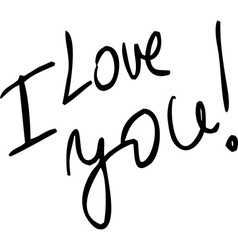 I Love You - text vector image