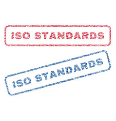 Iso standards textile stamps vector