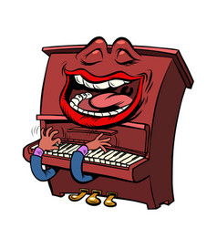 joyful emoji character emotion piano musical vector image