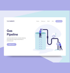 landing page template of gas pipeline concept vector image