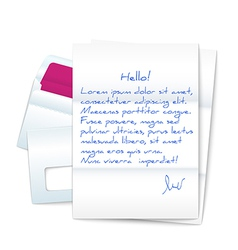 Letter with Two Envelopes vector image