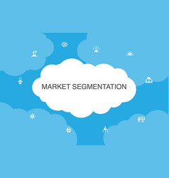 Market segmentation infographic cloud design vector