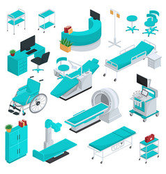 medical equipment clinic technology vector image