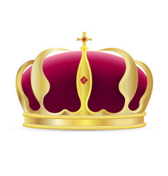 monarch crown icon vector image