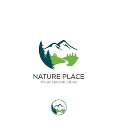 mountain logo elegant mountain logo design and vector image