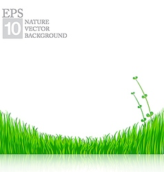 Nature background with green grass 01 380x400 vector image