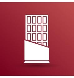 Opened chocolate bar icon logo design vector