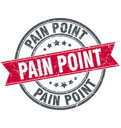 Pain point round grunge ribbon stamp vector