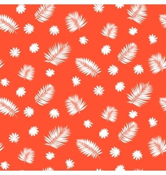 Pattern with palm leafs inspired by tropics nature vector image