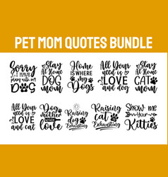pet svg bundle cats and dogs svg dog paw svg vector image