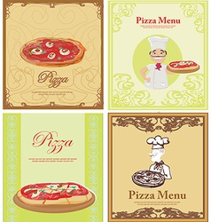 Pizza Menu Template set vector image vector image