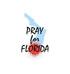 pray for florida hurricane irma natural vector image