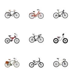 Realistic equilibrium extreme biking adolescent vector
