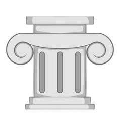 Roman column icon gray monochrome style vector