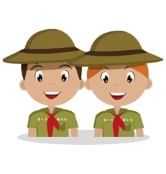 Scout character isolated icon design vector