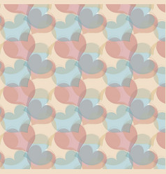 seamless pattern with gentle handdrawn hearts vector image