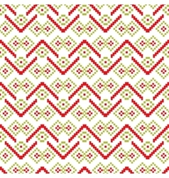 Seamless pixel patterns winter vector