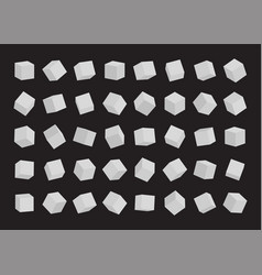 set white cubes vector image