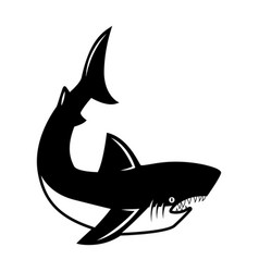 Shark design elements for logo label emblem sign vector