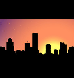 silhouette of the town vector image