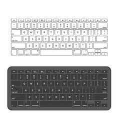 slim aluminum computer keyboard vector image