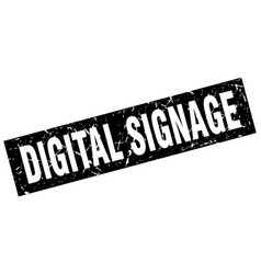 Square grunge black digital signage stamp vector