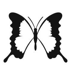 Swallowtail butterfly icon simple style vector