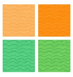 Wavy seamless backgrounds vector image