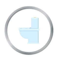 WC toilet icon of for web and vector
