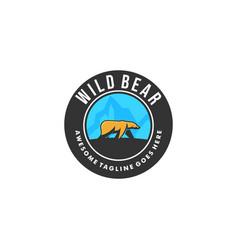 Wild bear template vector