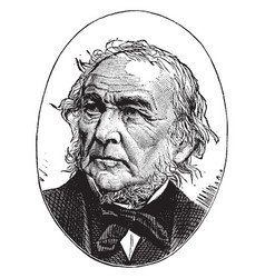 William ewart gladstone vintage vector