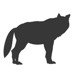 wolf sideview silhouette icon vector image