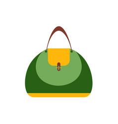 Women handbag flat icon blue modern bag isolated vector