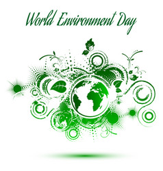 World environment day abstract background vector