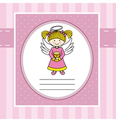Angel with a chalice vector image vector image