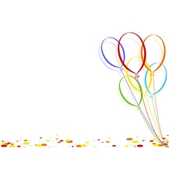 Colored Confetti and Party Balloons vector image