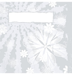 Couture Floral Grunge vector image