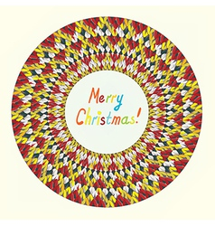 Merry Christmas knitting greeting card vector image