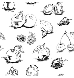 seamless wallpaper with fruit vector image vector image