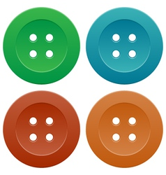 Set of Colorful Sewing Buttons vector image