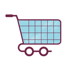 Shopping car to website buy icon vector