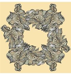 Stylish vintage floral pattern against a uniform vector image vector image